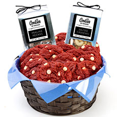 AG27-RV - Red Velvet Gourmet Combo Basket - Two Dozen