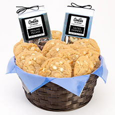 AG27-WCM - White Chocolate Macadamia Gourmet Combo Basket - Two Dozen