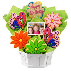 PH249 - Photo Cookies - Butterfly and Daisy Birthday