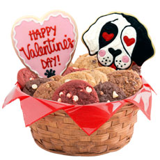 W507 - Valentine Puppies Basket