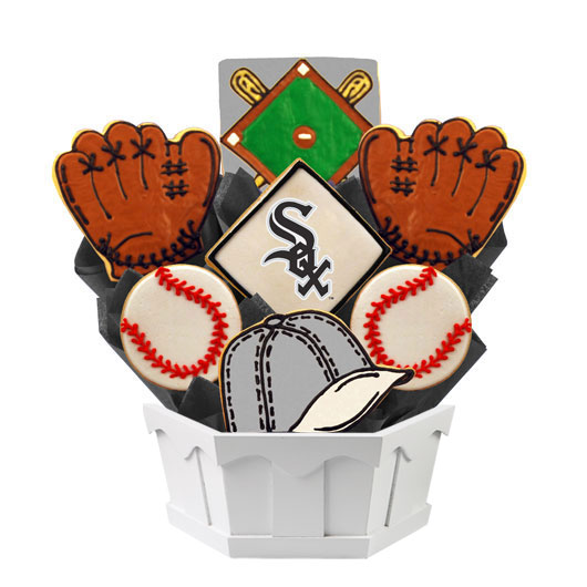 MLB Bouquet - Chicago Whitesox Cookie Bouquet