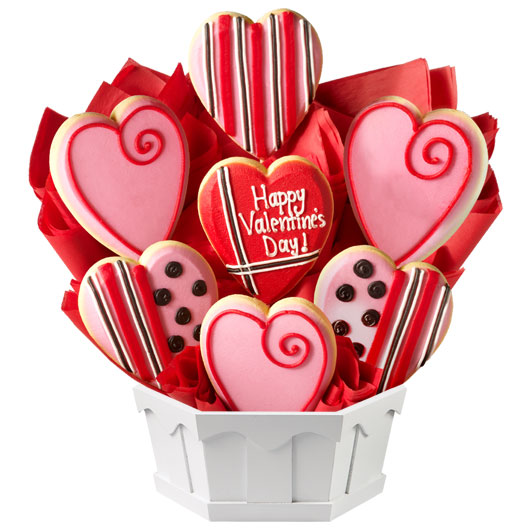 Sweet Valentine Cookie Bouquet