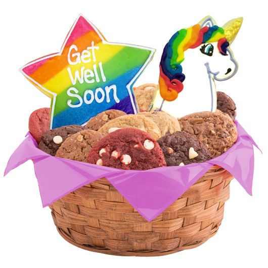 Get Well Magical Unicorns Cookie Basket
