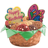W249 - Butterfly and Daisy Birthday Basket
