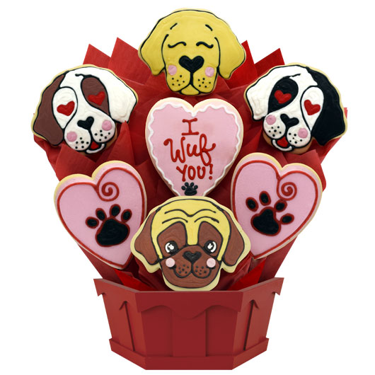 I Wuf You Cookie Bouquet