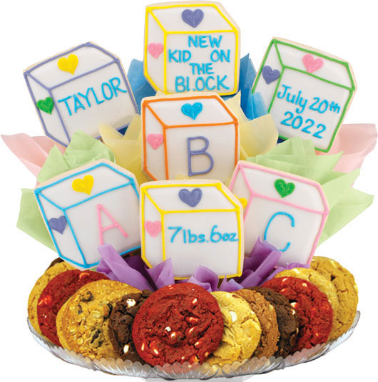 Baby Blocks Gourmet Gift Basket